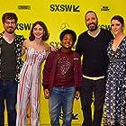 Melanie Lynskey, John Gallagher Jr., Tony Hale, Sophia Mitri Schloss, and Keith L. Williams at an event for Sadie (2018)