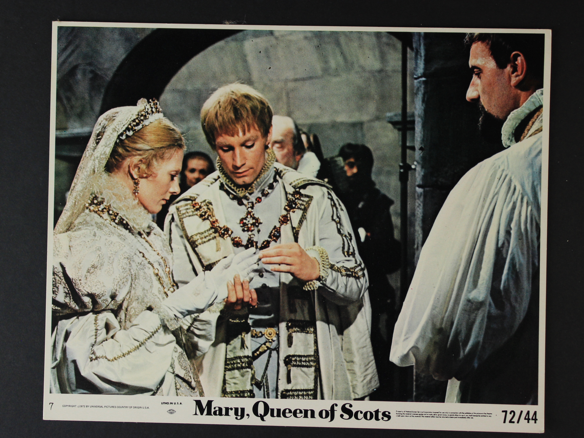 Vanessa Redgrave, Timothy Dalton, and Patrick McGoohan in Mary, Queen of Scots (1971)