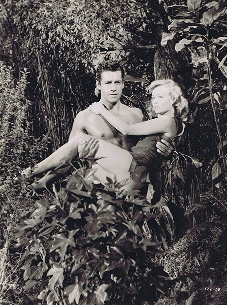 Eve Brent and Gordon Scott in Tarzan's Fight for Life (1958)