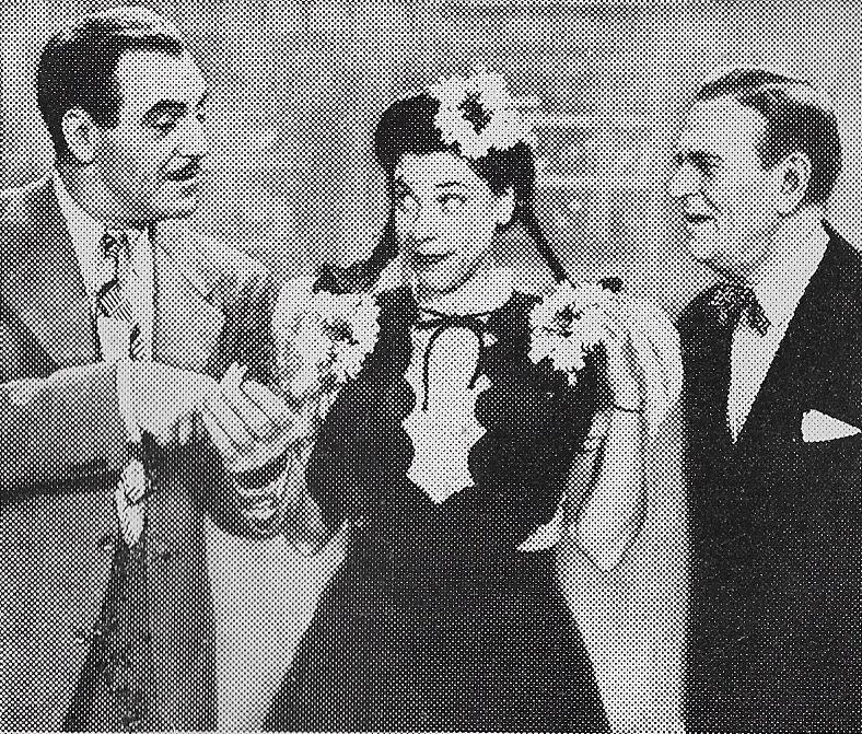 Judy Canova, Richard Lane, and George McKay in Louisiana Hayride (1944)