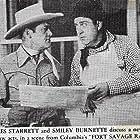 Smiley Burnette and Charles Starrett in Fort Savage Raiders (1951)