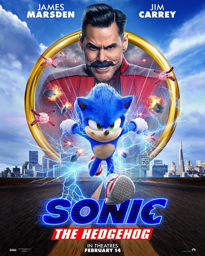 Jim Carrey and Ben Schwartz in Sonic the Hedgehog (2020)