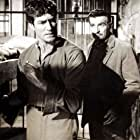 Stephen McNally and Hugh O'Brian in The Fiend Who Walked the West (1958)