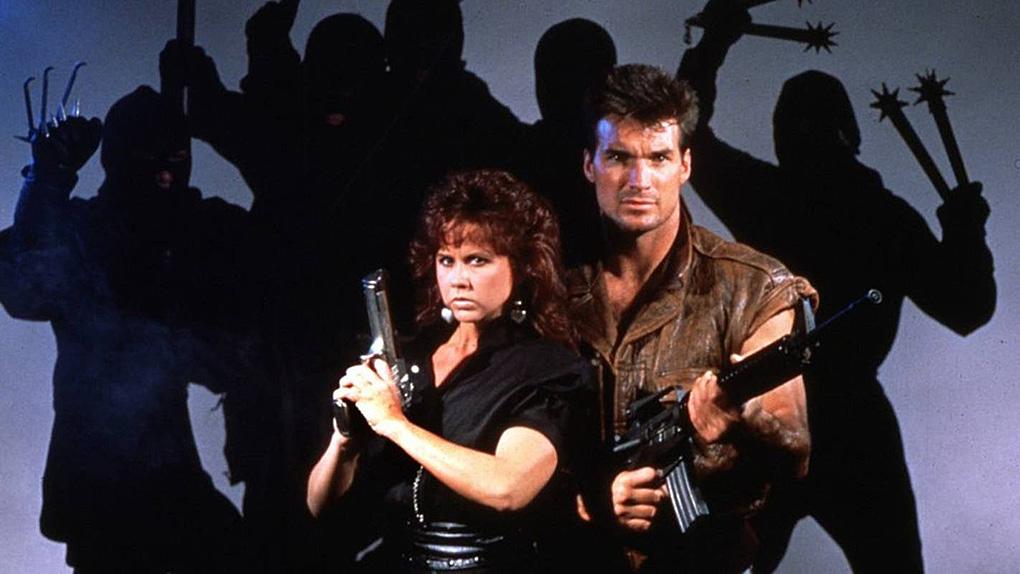 Linda Blair and Sam J. Jones in Silent Assassins (1988)