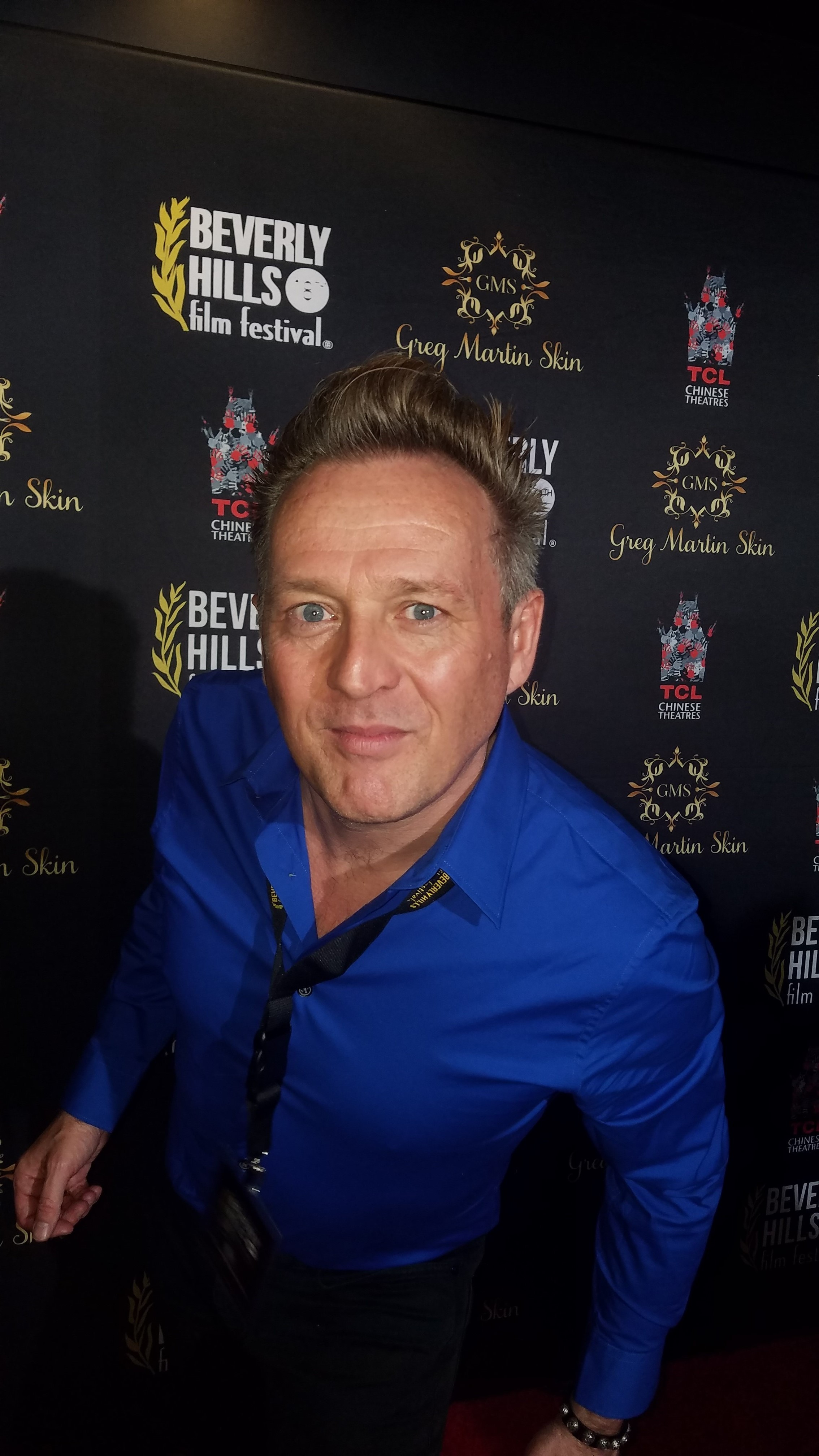 Joe Toppe at the Beverly Hills Film Festival.