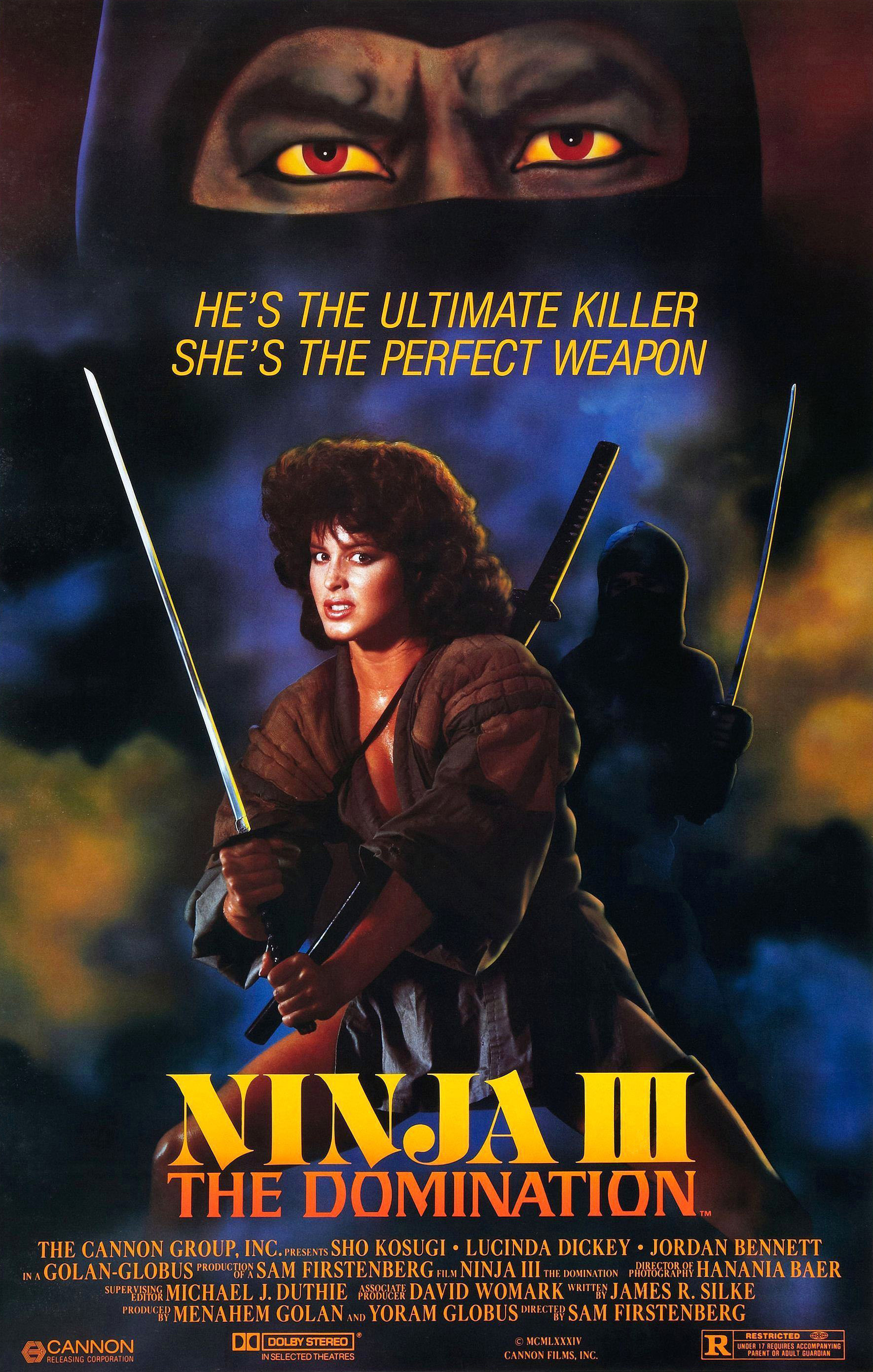 Image result for NINJA III: THE DOMINATION movie poster