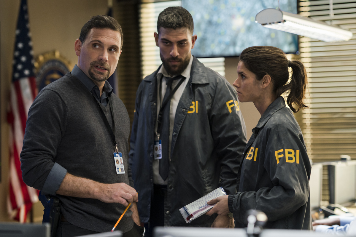 Jeremy Sisto, Missy Peregrym, and Zeeko Zaki in FBI (2018)