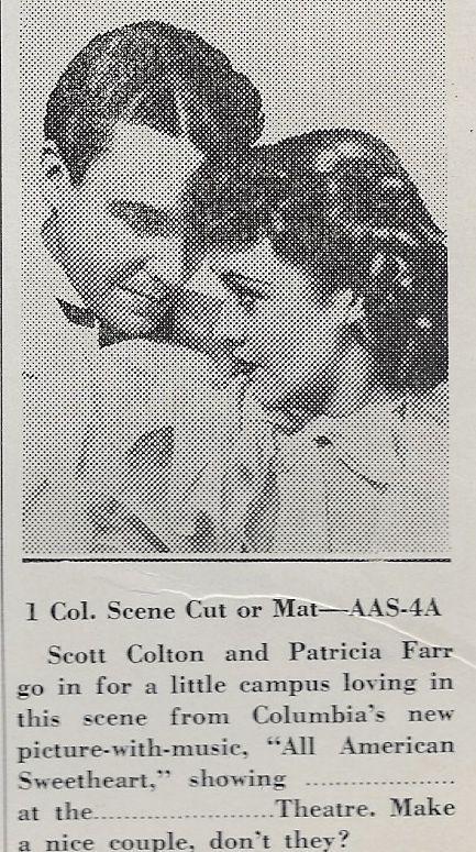 Patricia Farr and Scott Kolk in All American Sweetheart (1937)