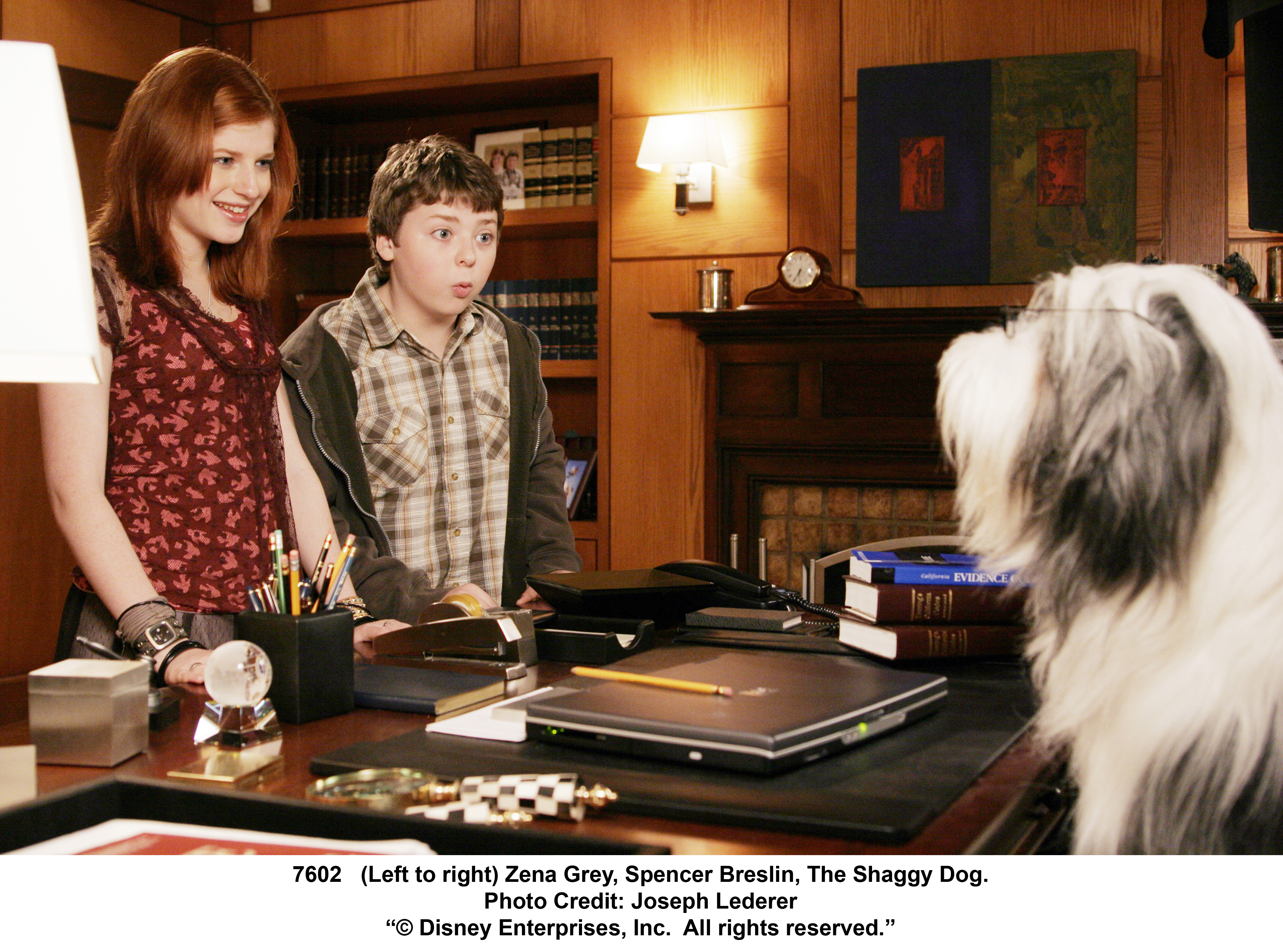 Spencer Breslin and Zena Grey in The Shaggy Dog (2006)