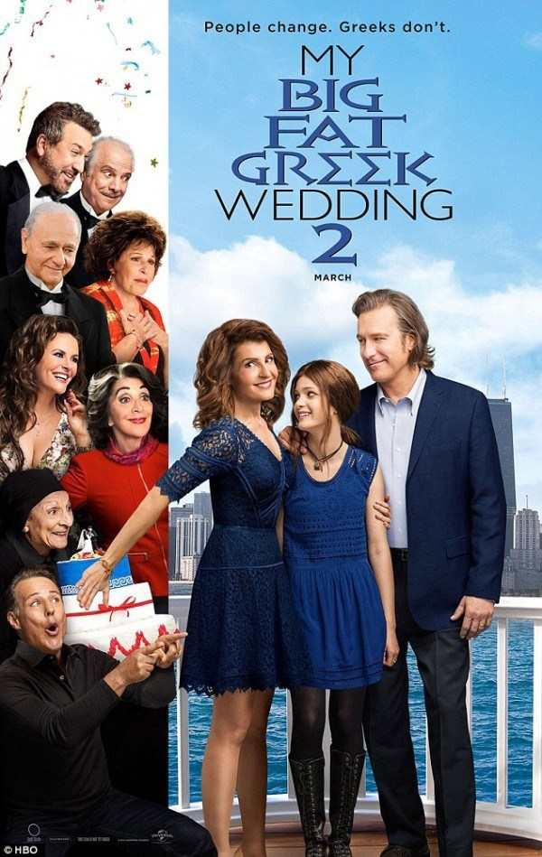 John Corbett, Lainie Kazan, Andrea Martin, Nia Vardalos, and Elena Kampouris in My Big Fat Greek Wedding 2 (2016)