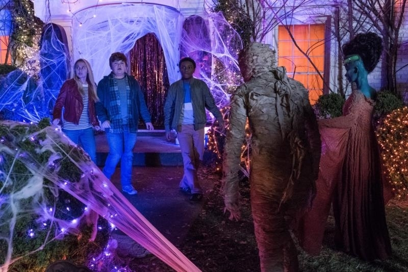Caleel Harris, Jeremy Ray Taylor, and Madison Iseman in Goosebumps 2: Haunted Halloween (2018)