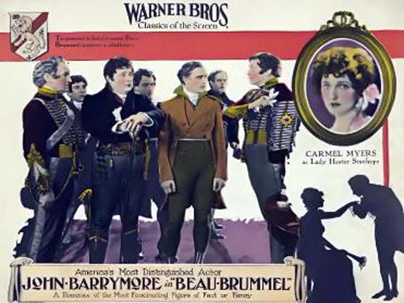 John Barrymore, Alec B. Francis, William Humphrey, Willard Louis, and Carmel Myers in Beau Brummel (1924)