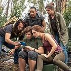 Tim Rozon, Craig Stein, Luke Newton, Katherine Barrell, and Sai Bennett in Lake Placid: Legacy (2018)