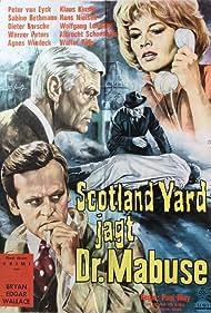 Klaus Kinski, Sabine Bethmann, Werner Peters, and Peter van Eyck in Scotland Yard jagt Dr. Mabuse (1963)
