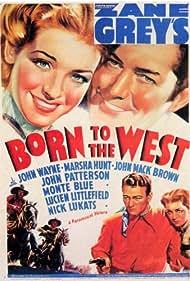 John Wayne, Johnny Mack Brown, and Marsha Hunt in Born to the West (1937)