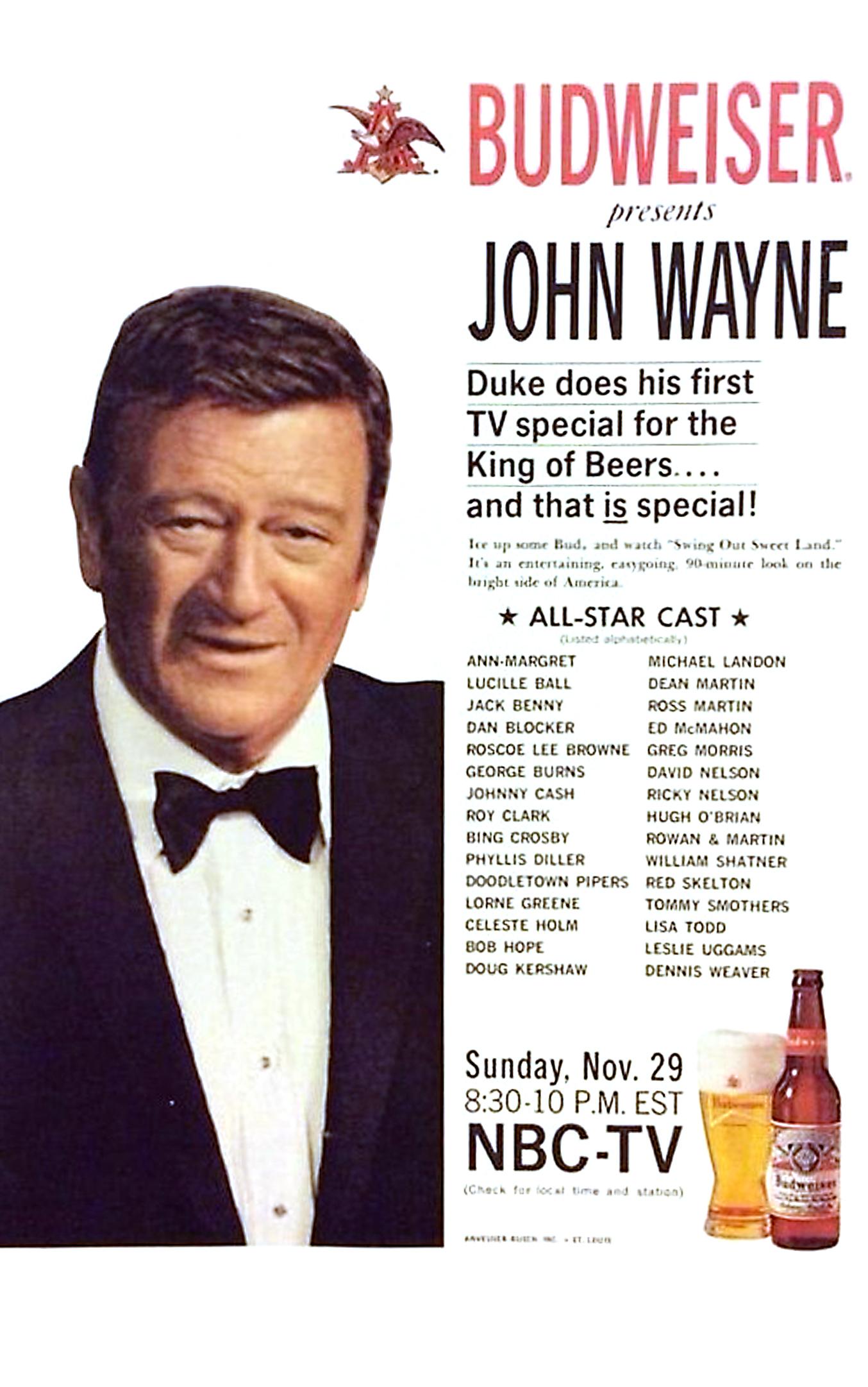 John Wayne in Swing Out, Sweet Land (1970)