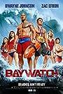 Dwayne Johnson, Alexandra Daddario, Zac Efron, Ilfenesh Hadera, Jon Bass, and Kelly Rohrbach in Baywatch (2017)