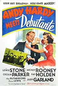 Judy Garland, Mickey Rooney, Sara Haden, Fay Holden, Cecilia Parker, and Lewis Stone in Andy Hardy Meets Debutante (1940)