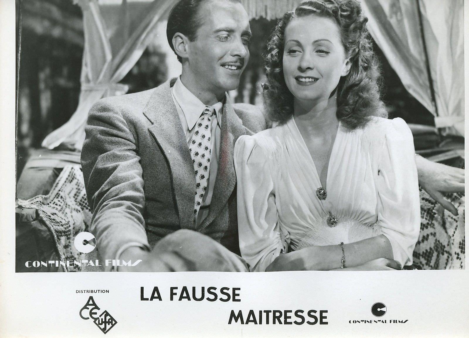 Danielle Darrieux and Bernard Lancret in La fausse maîtresse (1942)
