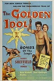 Lane Bradford, Anne Kimbell, Johnny Sheffield, and Kimbbo the Chimp in The Golden Idol (1954)