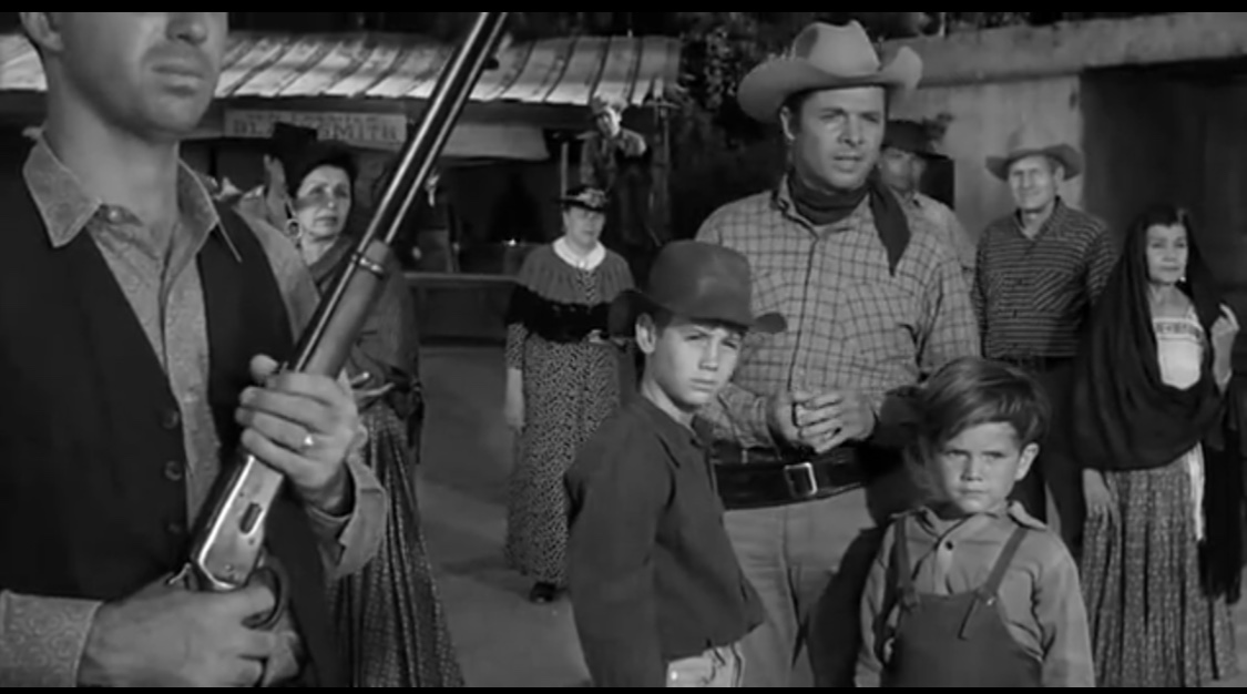 Audie Murphy, Kevin Brodie, and Butch Patrick in Showdown (1963)