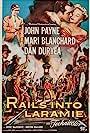 Dan Duryea, Mari Blanchard, and John Payne in Rails Into Laramie (1954)