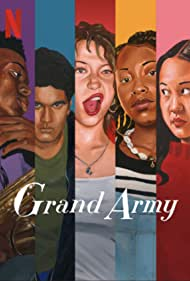 Odessa A'zion, Amalia Yoo, and Amir Bageria in Grand Army (2020)
