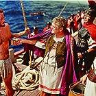 Charlton Heston, Jack Hawkins, and Ferdy Mayne in Ben-Hur (1959)