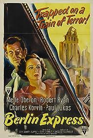 Merle Oberon and Robert Ryan in Berlin Express (1948)