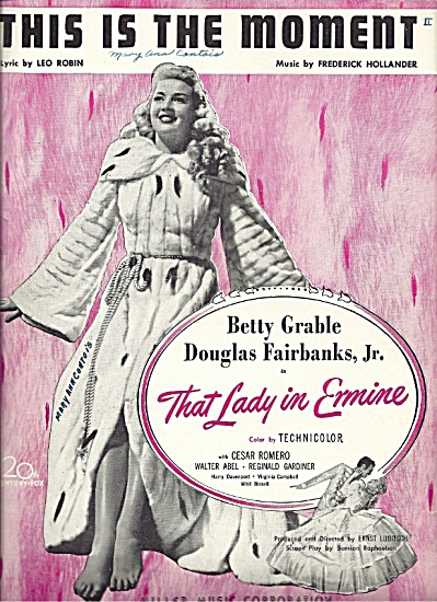 Betty Grable in That Lady in Ermine (1948)