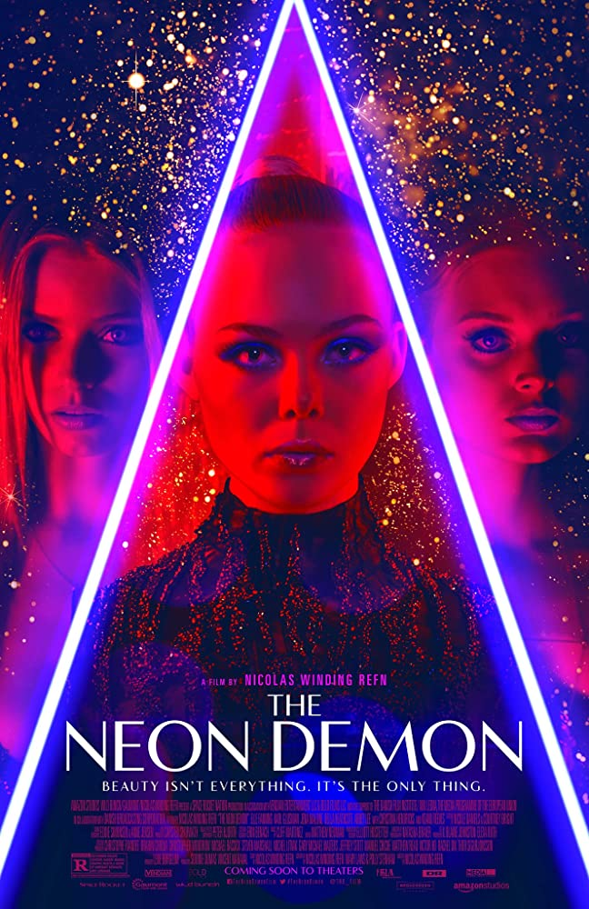Elle Fanning, Bella Heathcote, and Abbey Lee in The Neon Demon (2016)