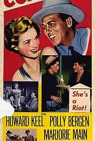 Polly Bergen, Nina Foch, Howard Keel, and Marjorie Main in Fast Company (1953)