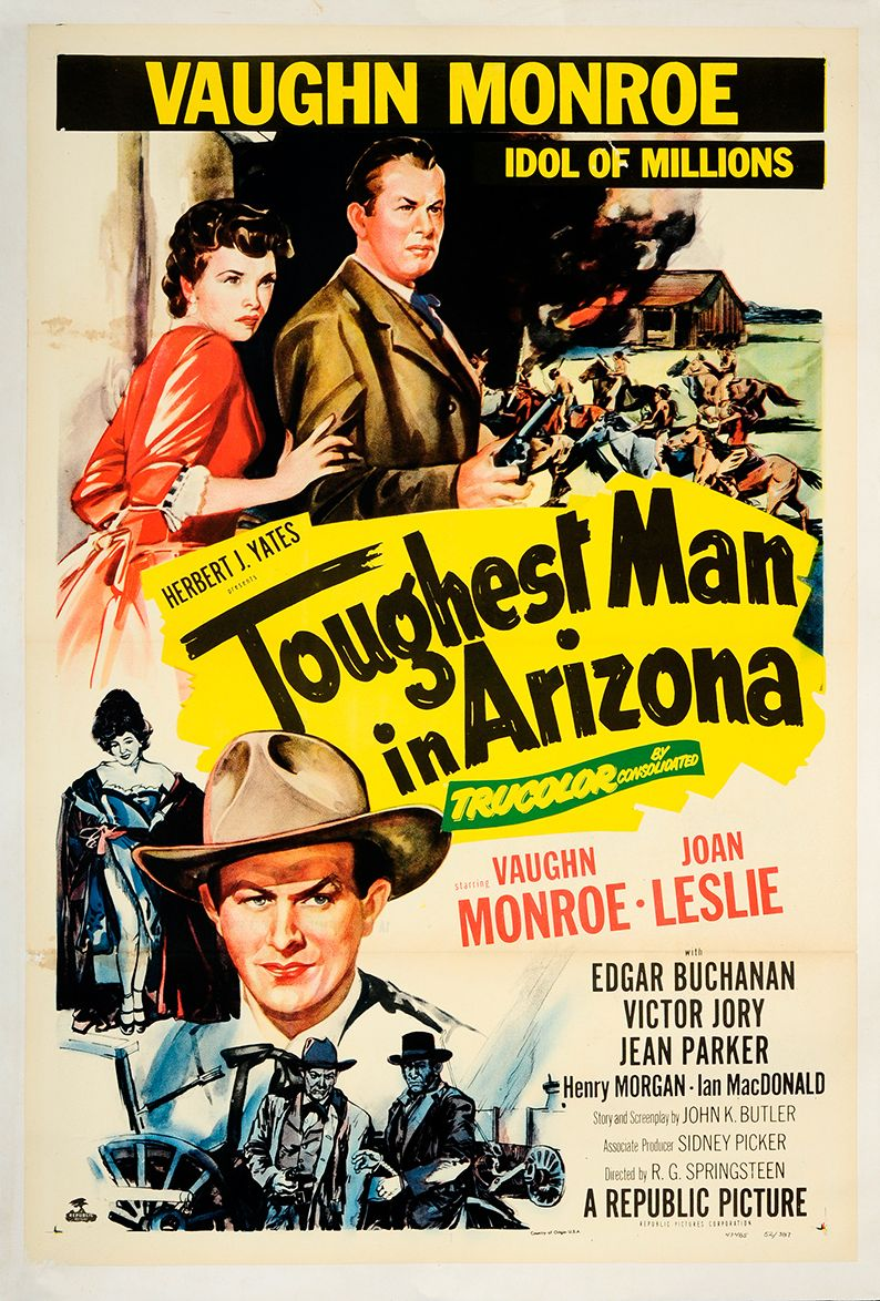 Joan Leslie and Vaughn Monroe in Toughest Man in Arizona (1952)