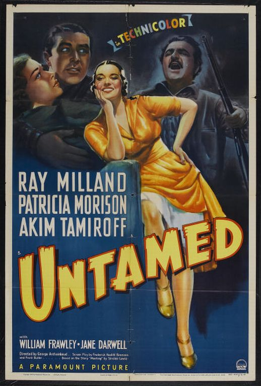 Ray Milland, Patricia Morison, and Akim Tamiroff in Untamed (1940)