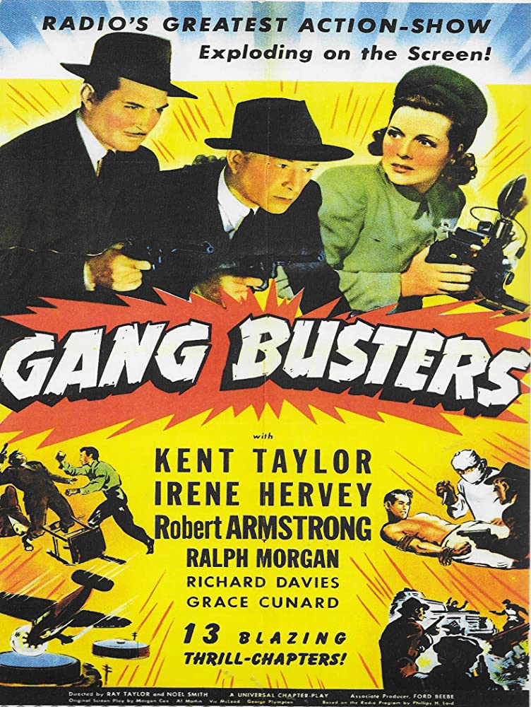 Robert Armstrong, Irene Hervey, and Kent Taylor in Gang Busters (1942)