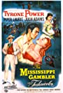 Tyrone Power, Piper Laurie, and Julie Adams in The Mississippi Gambler (1953)