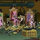 Maurice LaMarche, David Herman, and Frank Welker in Futurama: Bender's Big Score (2007)