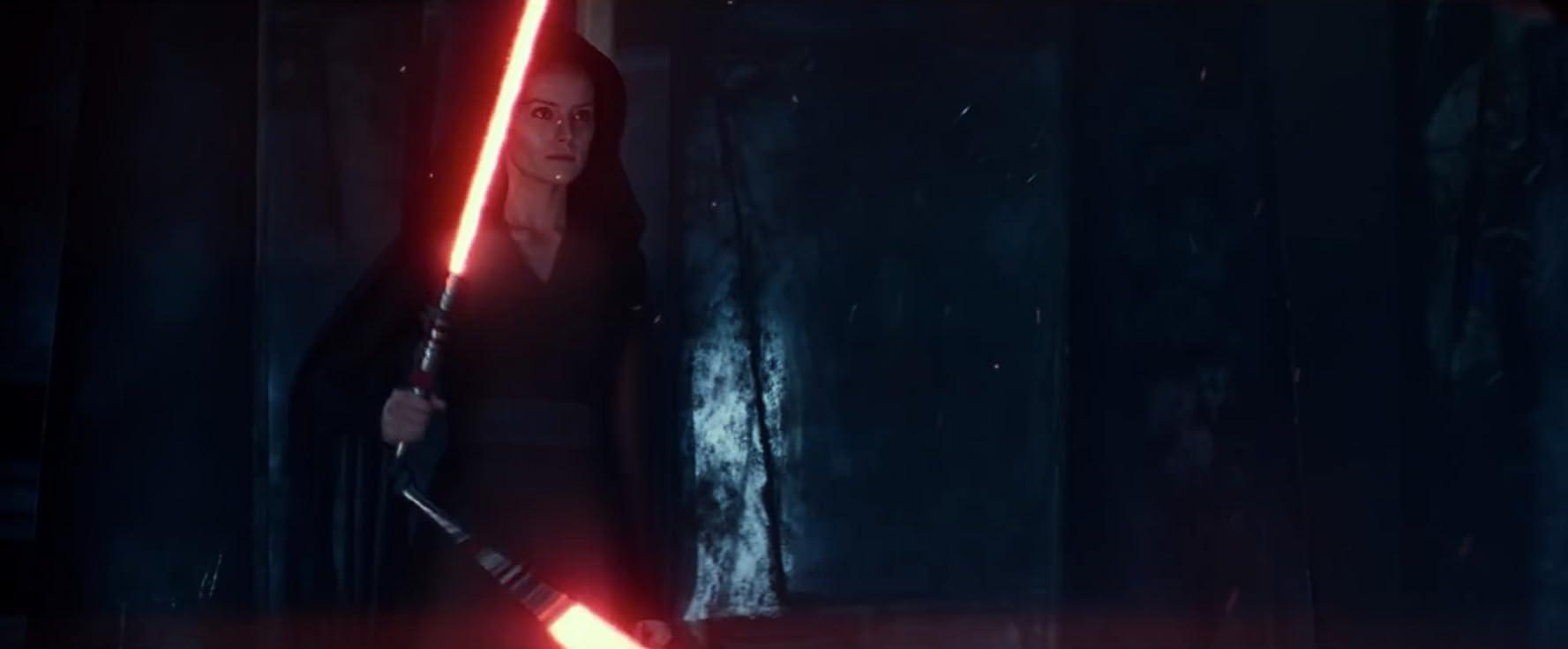 Daisy Ridley dalam film Star Wars: The Rise of Sky Walker (2019).