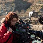 Director Angeliki Antoniou and Cinematographer Juerges Juergen (first from the right) during shooting of the film