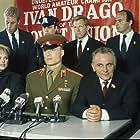 Dolph Lundgren, Brigitte Nielsen, and Michael Pataki in Rocky IV (1985)