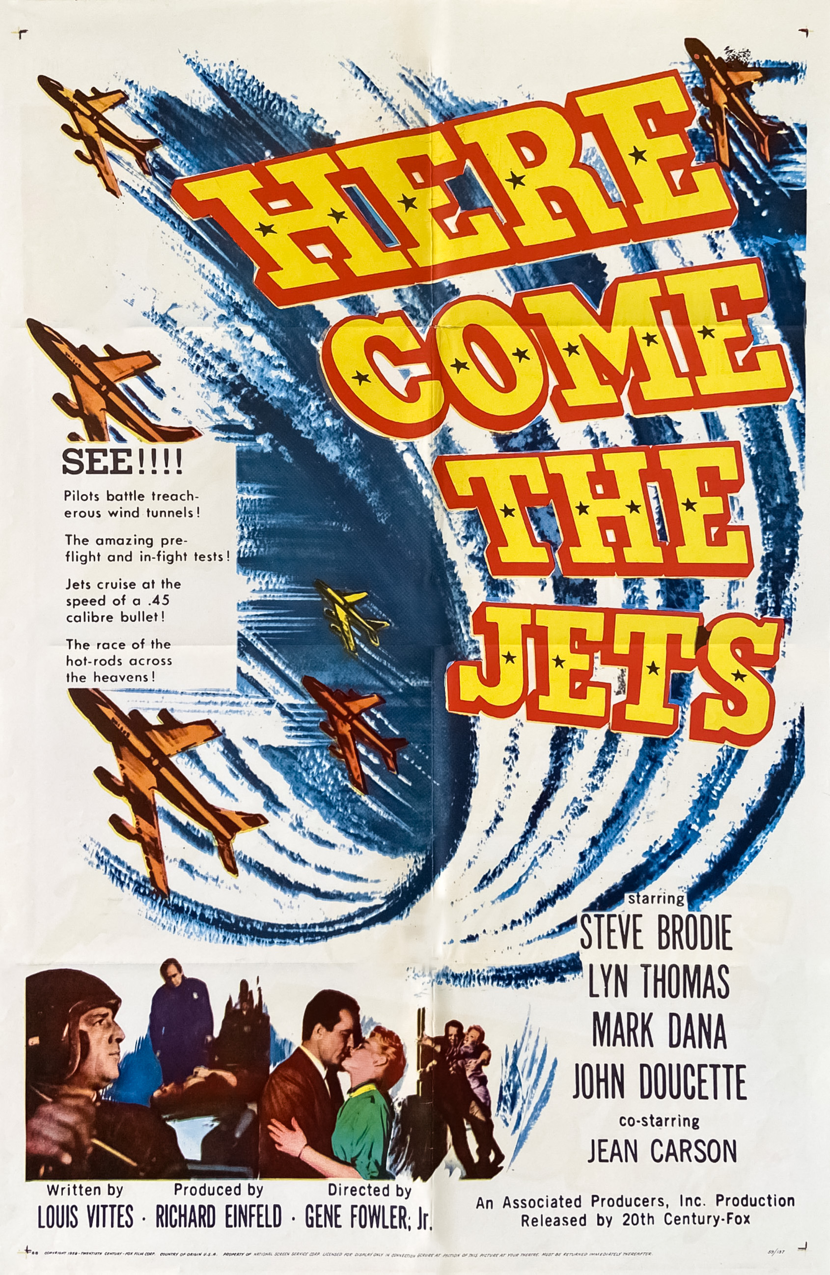 Steve Brodie, Jean Carson, Mark Dana, and John Doucette in Here Come the Jets (1959)