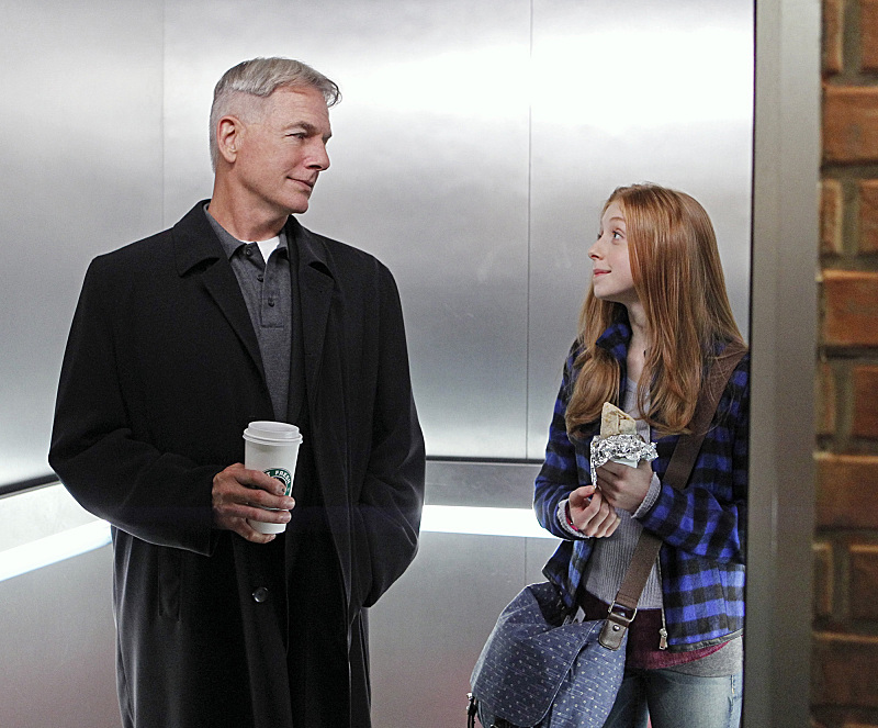 Mark Harmon and Juliette Angelo in NCIS: Naval Criminal Investigative Service (2003)