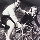 Honor Blackman and Patrick Holt in A Boy, a Girl and a Bike (1949)