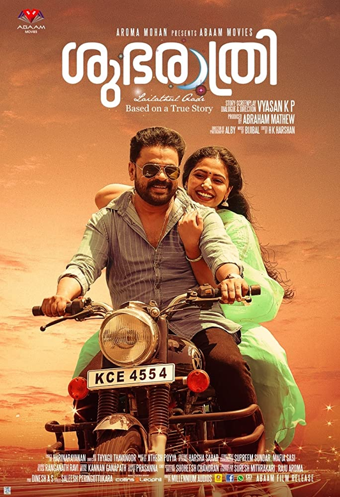 Subharathri 2019 Malayalam Full Movie DVDRip ESubs 400MB Download