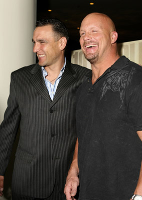 Vinnie Jones and Steve Austin at an event for The Condemned (2007)