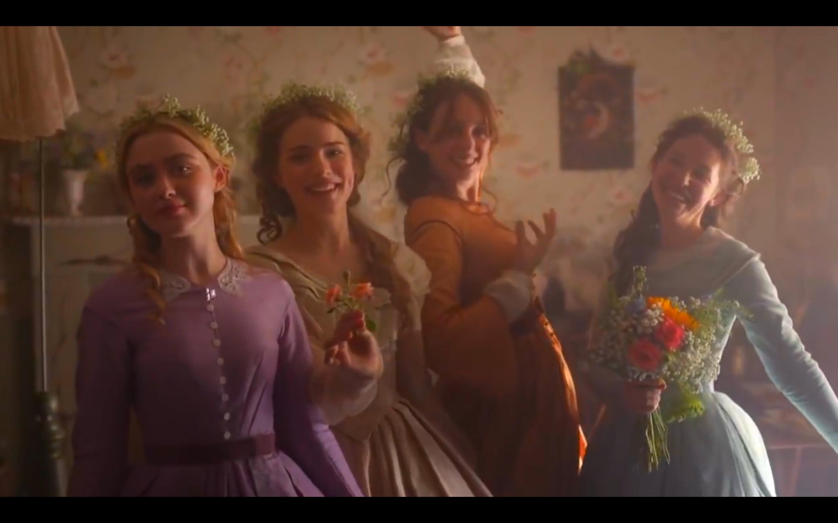 Kathryn Newton, Maya Hawke, Willa Fitzgerald, and Annes Elwy in Little Women (2017)