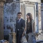 Daniel Gillies and Daniella Pineda in The Vampire Diaries (2009)