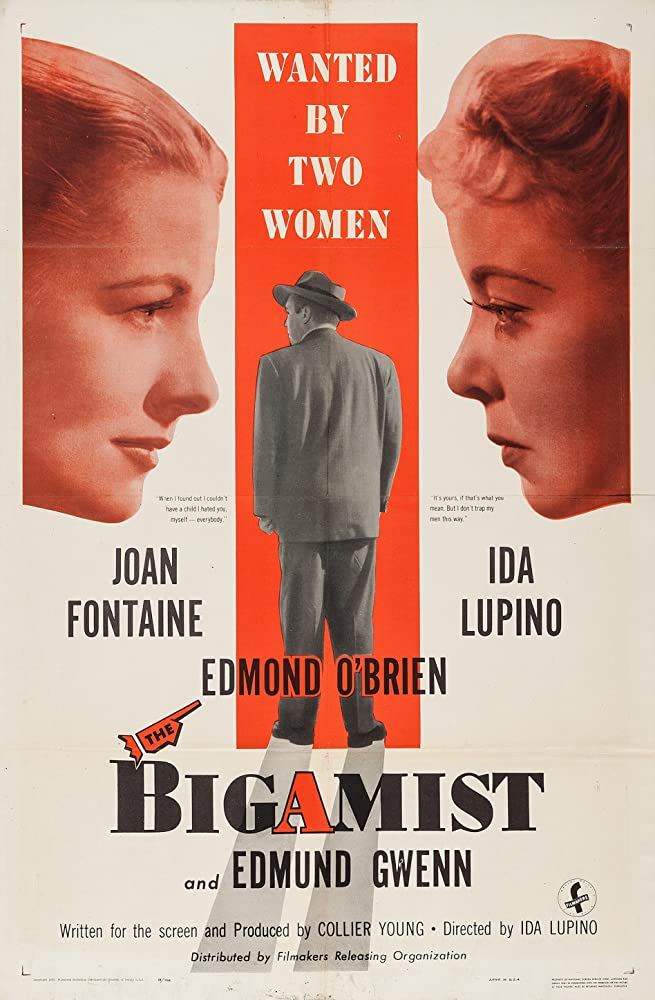 Joan Fontaine, Ida Lupino, and Edmond O'Brien in The Bigamist (1953)