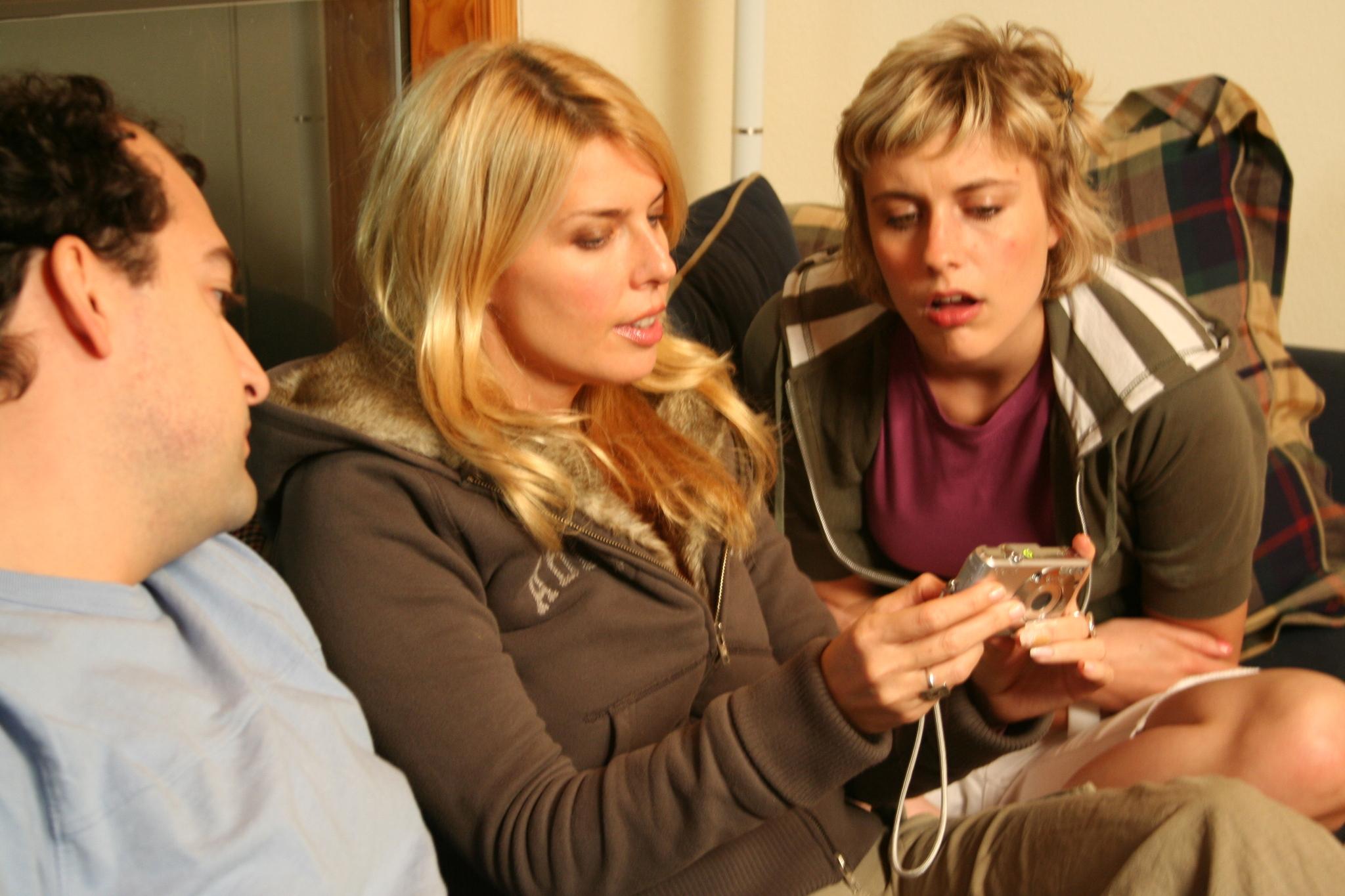 Elise Muller, Steve Zissis, and Greta Gerwig in Baghead (2008)