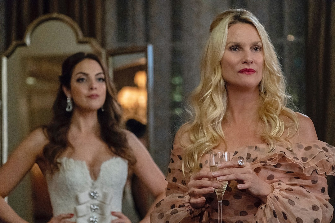 Nicollette Sheridan and Elizabeth Gillies in Dynasty (2017)
